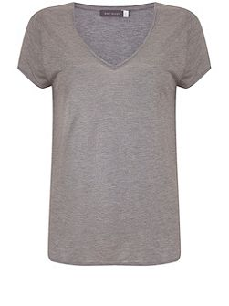Silver Grey Marl Foiled Tee