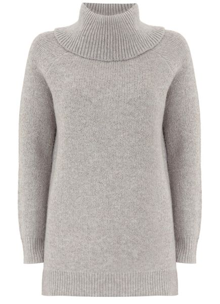 Mint Velvet Silver Grey Lurex Detail Chunky Knit