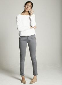 Mint Velvet Ivory Chiffon Sweat