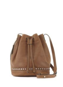Mint Velvet Tan Bridget Bucket Bag