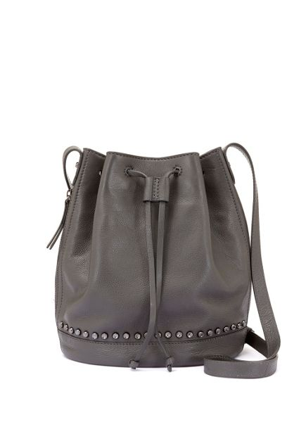 Mint Velvet Grey Bridget Bucket Bag