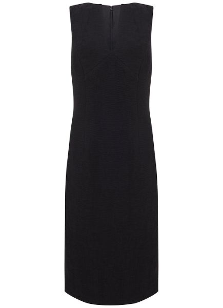Mint Velvet Black Plunge Neck Shift Dress