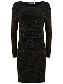 Black Marl Layered Tunic
