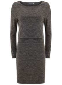 Mint Velvet Granite Marl Layered Tunic