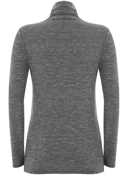 Mint Velvet Granite Marl Jersey Polo Neck