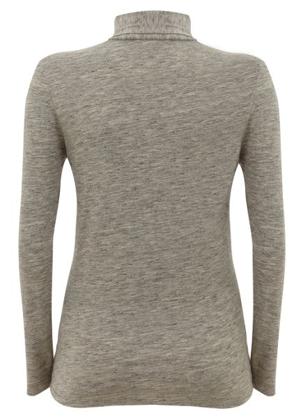 Mint Velvet Silver Grey Marl Jersey Polo Neck