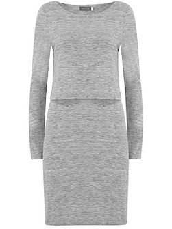 Silver Grey Marl Layered Tunic
