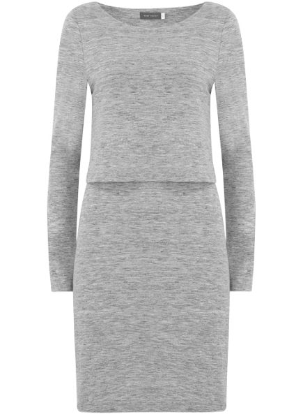 Mint Velvet Silver Grey Marl Layered Tunic