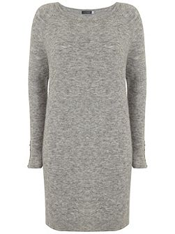 Mid Grey Slouchy Knitted Dress