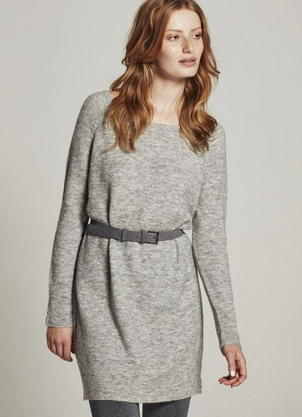 Mint Velvet Mid Grey Slouchy Knitted Dress