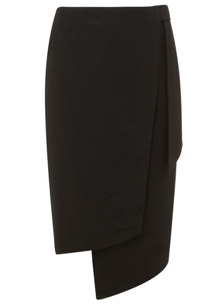 Mint Velvet Black Formal Tie Skirt