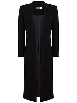 Black Formal Duster Coat