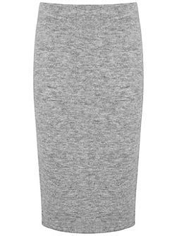 Mid Grey Knitted Tube Skirt