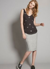 Mint Velvet Mid Grey Knitted Tube Skirt