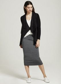 Mint Velvet Granite Fold Over Midi Skirt