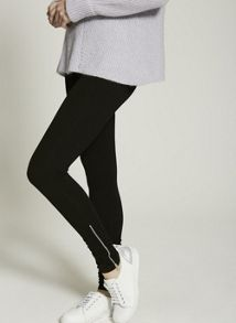 Mint Velvet Black Ankle Zip Legging