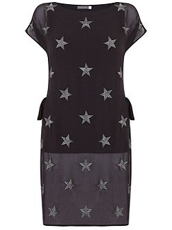Charcoal Star Embroidered Tunic
