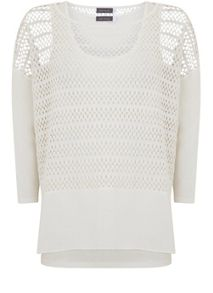 Mint Velvet Ivory Layered Lace Top
