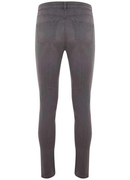 Mint Velvet Lincoln Dark Grey Zip Skinny Jean