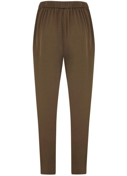 Mint Velvet Khaki Satin Sports Pant