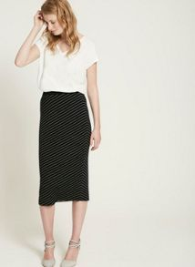 Mint Velvet Stripe Pinstripe Pencil Skirt