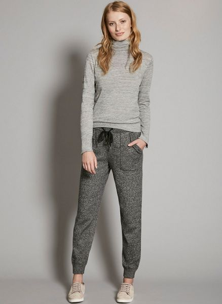 Mint Velvet Charcoal Knitted Sports Jogger