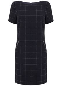 Mint Velvet Ink Check Dress