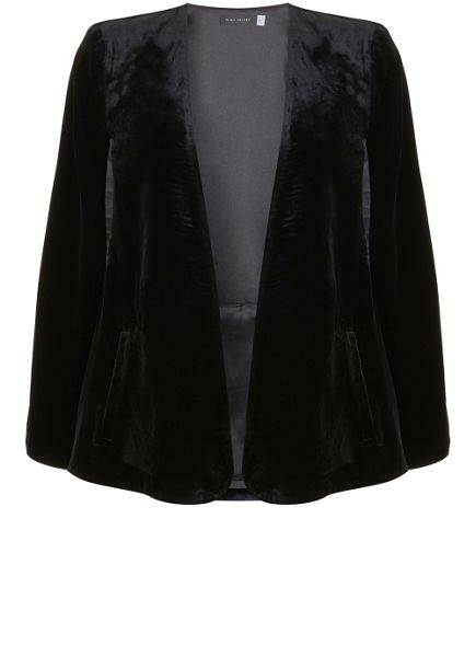 Mint Velvet Black Velvet Cape