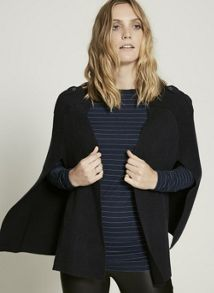 Mint Velvet Navy Double Faced Knitted Cape