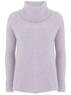 Lilac Pointelle Knit