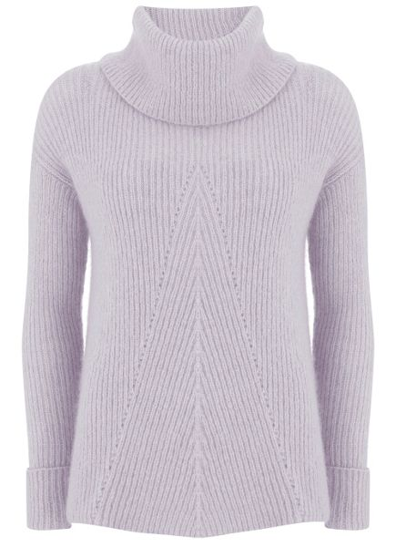 Mint Velvet Lilac Pointelle Knit