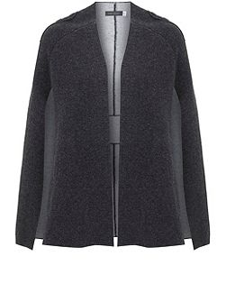 Grey Double Faced Knitted Cape