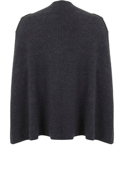 Mint Velvet Grey Double Faced Knitted Cape