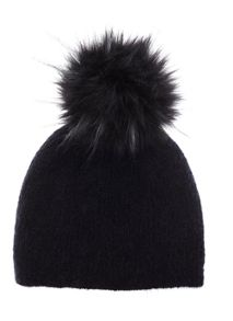 Mint Velvet Navy Faux Fur Pom Pom Hat