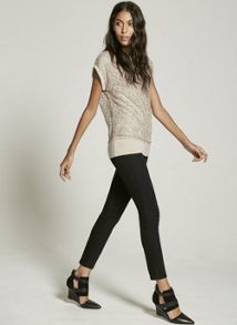 Mint Velvet Champagne Lace Sequin Layered Tee