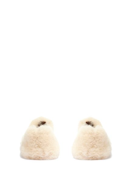 Mint Velvet Cream Real Sheepskin Mule