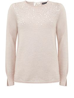 Powder Sequin Detail Knit