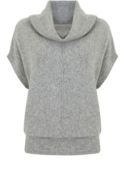 Mint Velvet Silver Grey Cocoon Knit