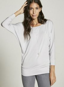 Mint Velvet Lilac Modal Batwing Tee