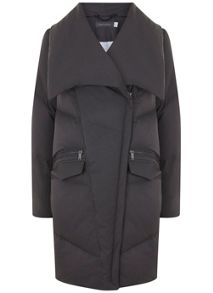 Mint Velvet Grey Padded Puffer Coat