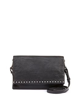 Black Sophia Stud Cross Body Bag