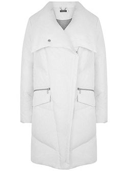 winter White Padded Puffer Coat