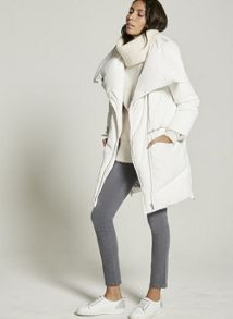 Mint Velvet winter White Padded Puffer Coat