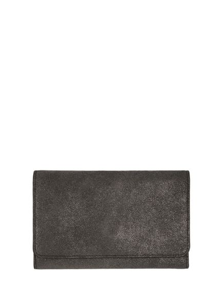 Mint Velvet Gunmetal Leather Travel Wallet