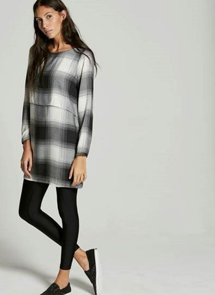 Mint Velvet Fine Check Layer Dress