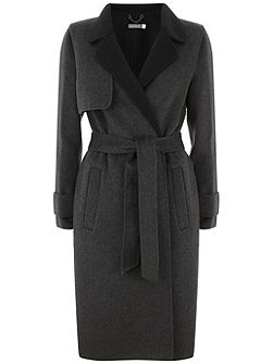 Charcoal Belted Coat