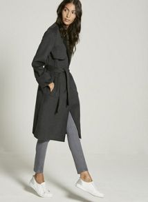 Mint Velvet Charcoal Belted Coat