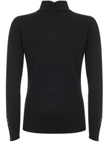 Mint Velvet Black Slim Fit Polo Neck Knit
