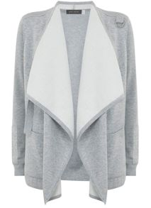 Mint Velvet Silver Grey Double Faced Organic Cardigan