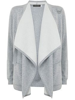 Silver Grey Double Faced Organic Cardigan